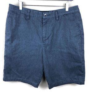 Hurley Mens Shorts, Gray Flat Front 34